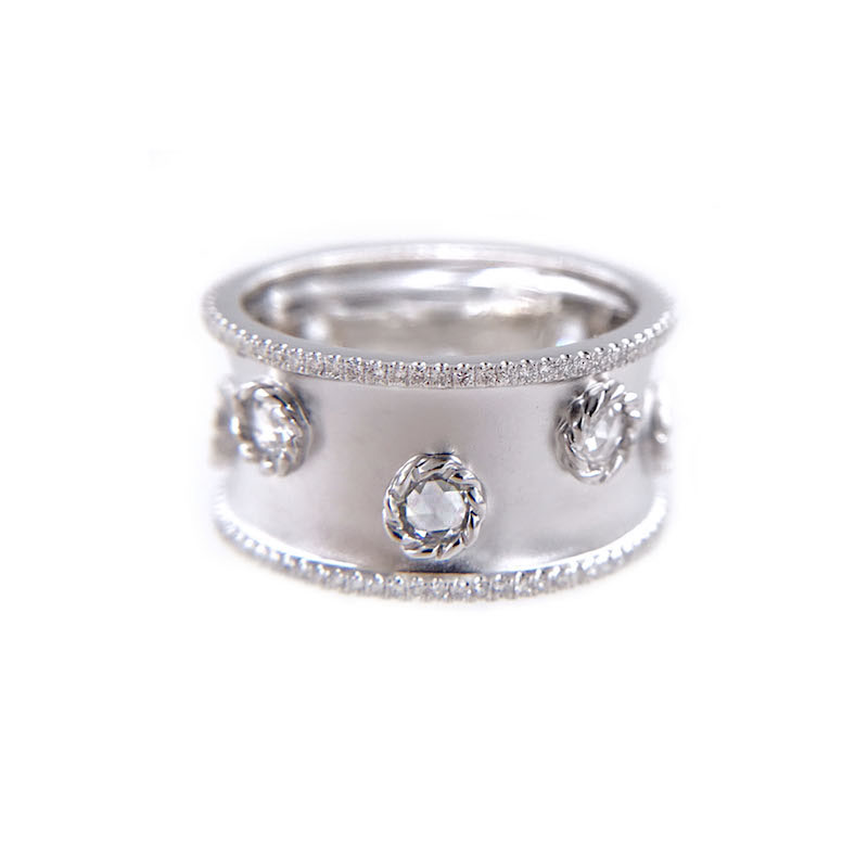 16_6540-rose-cut-diamonds-18k-satin-concave-cigar-band-unisex-ring-jewelyrie