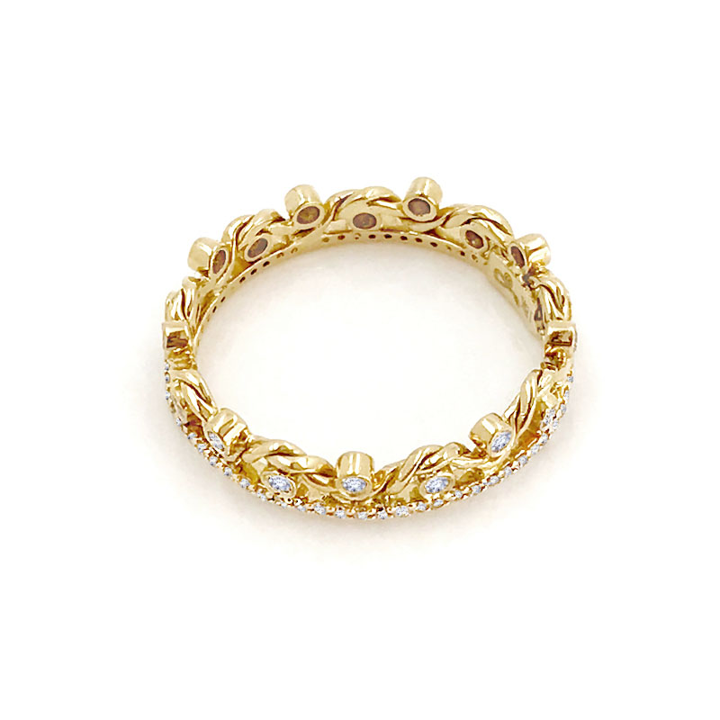 18K-Gold-Diamond-Twist-Wave-Open-Lace-Crown-Wedding-Ring-GLIR-06