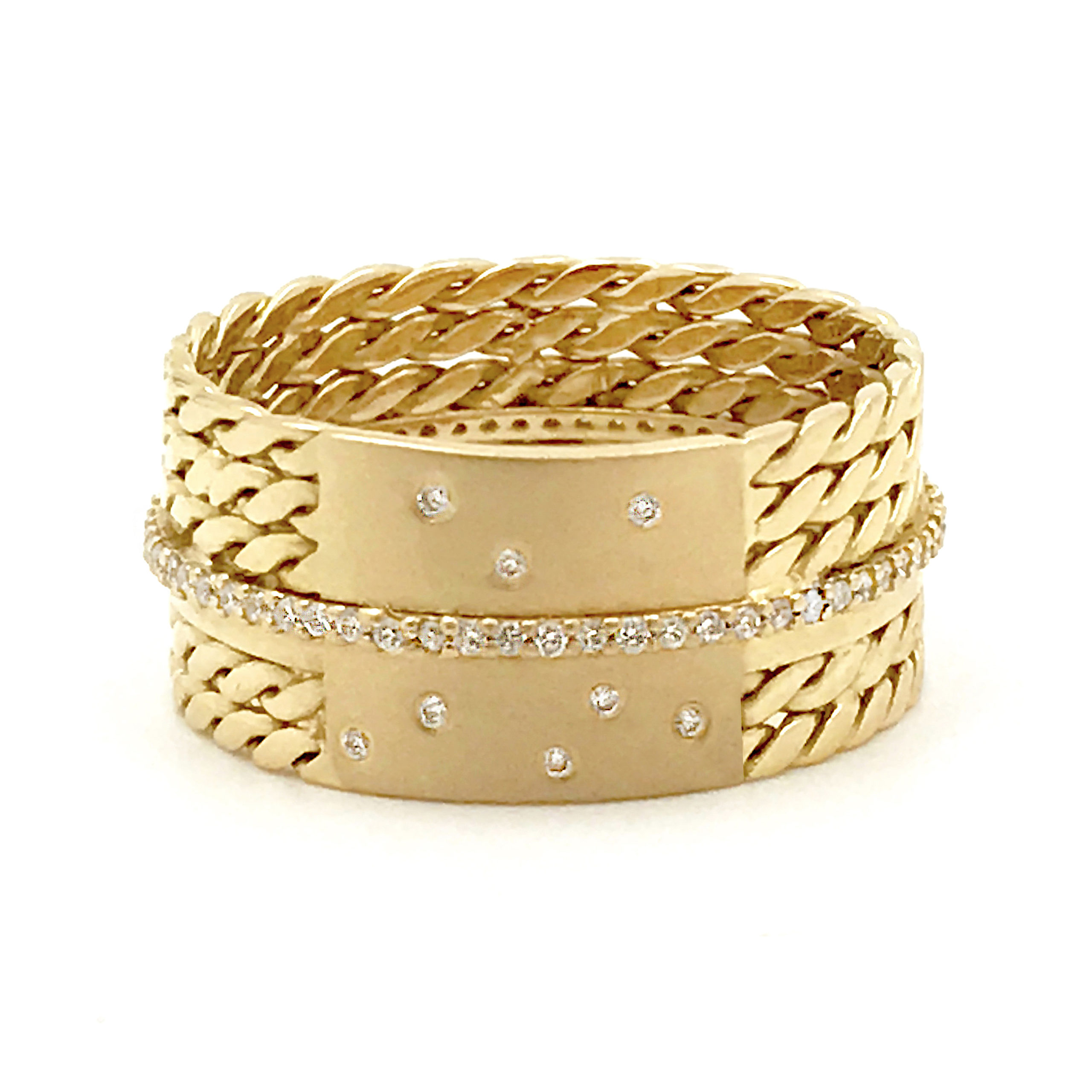 18k-Twist-Mesh-Center-Pave-Diamond-Belt-Shield-Cigar-Band