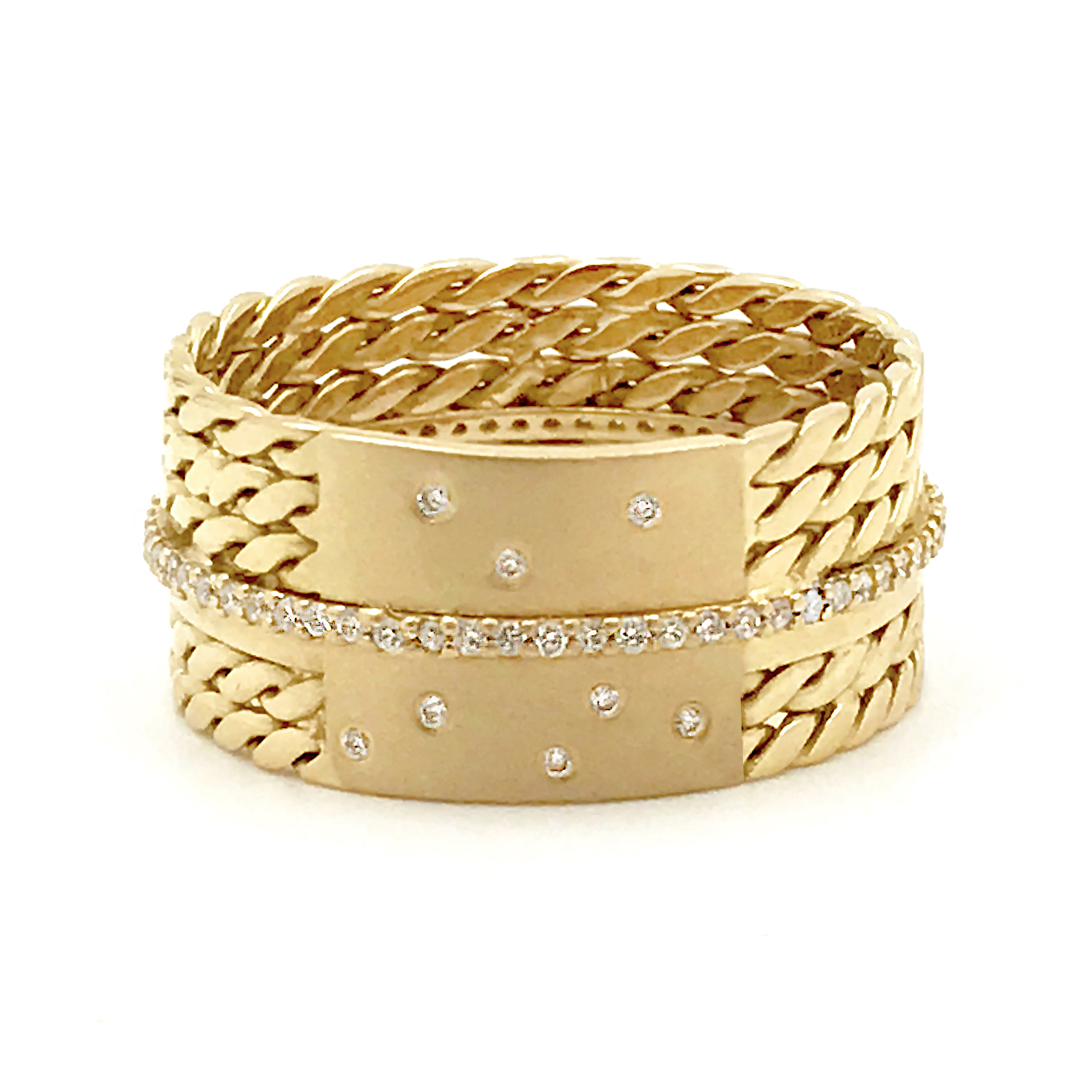 white vintage bangles diamond bangle round estate bracelet pave in gold img