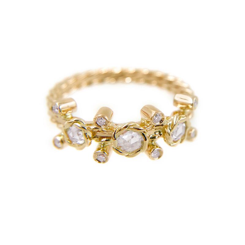 23-Gold-Rose-Cut-Diamond-Twist-Bezel-Set-Three-Diamond-Ring-jewelyrie_6976