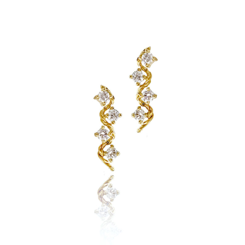 Diamond Twist Wave Studs