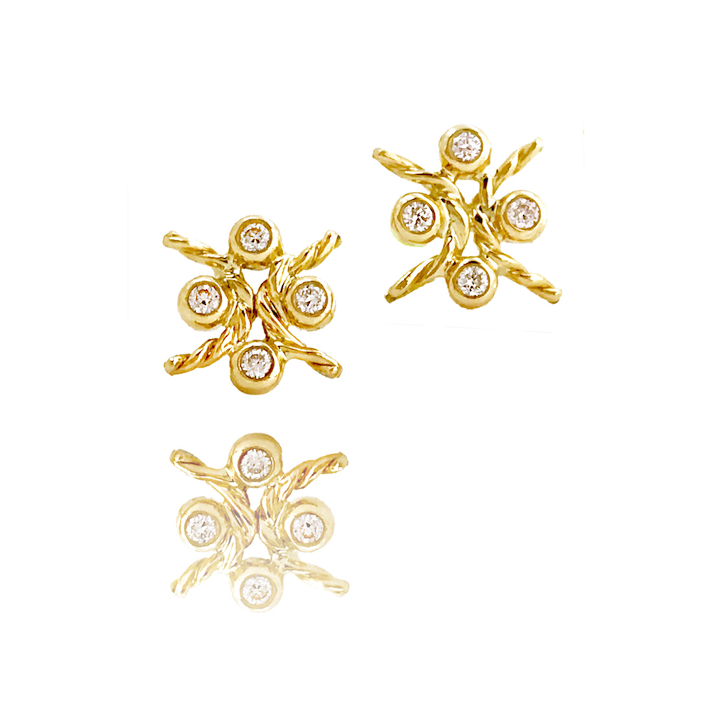 JeweLyrie-Tulle-Diamond-Stud Collection-Four-Star-Open-Twist-Earrings-DAX-E-06 copy