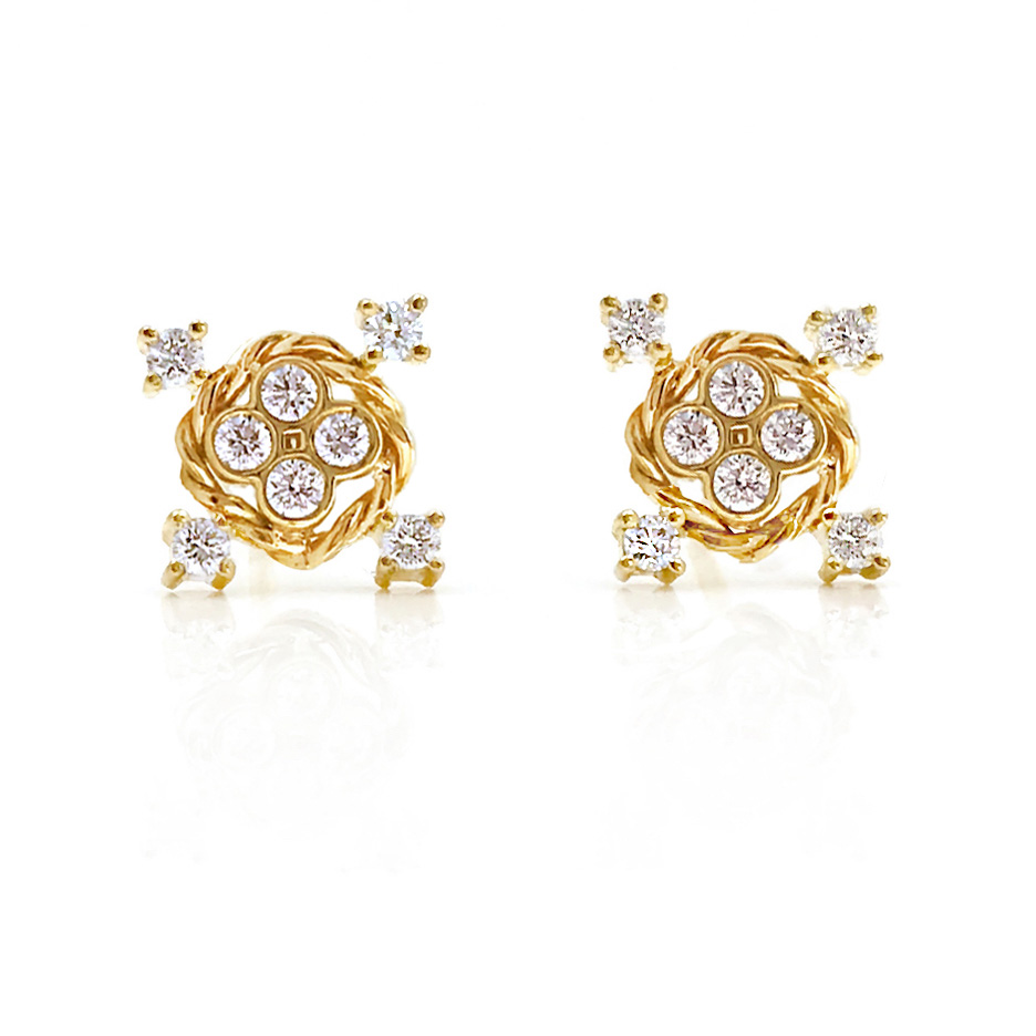 diamond-four-star-twist-studs-earrings-2736-SH