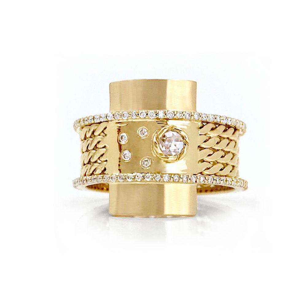 Moon-Star-18k-Gold-Twist-Textured-Double-Diamond-Belt-Shield-Statement-Ring-Jewelyrie-04F