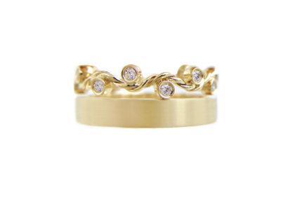 1.55-8mm-wavy-twist-satin-stripe-square-crown-Ring-Stacking14k-18k-jewelyrei