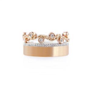 1.57.55-9mm-Wavy-Twist-Pave-Diamond-Satin-Square-band-Gold-Ring-Stacking-set -14k-18k-JeweLyrie_3510