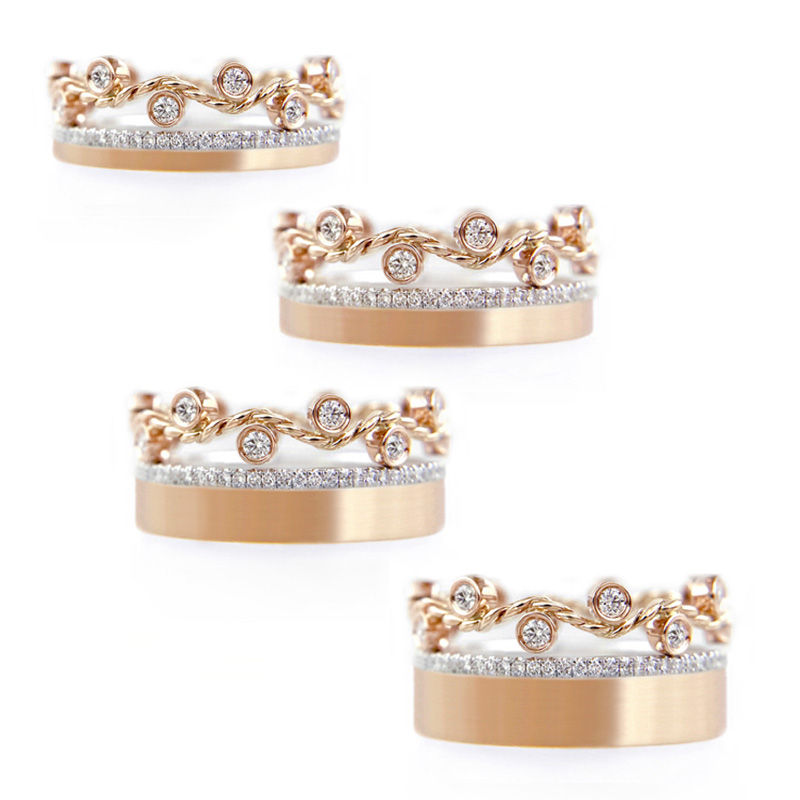 1.57.55-rose-gold-twist-wave-pavé-diamond-satin-square-band-stackable-ring