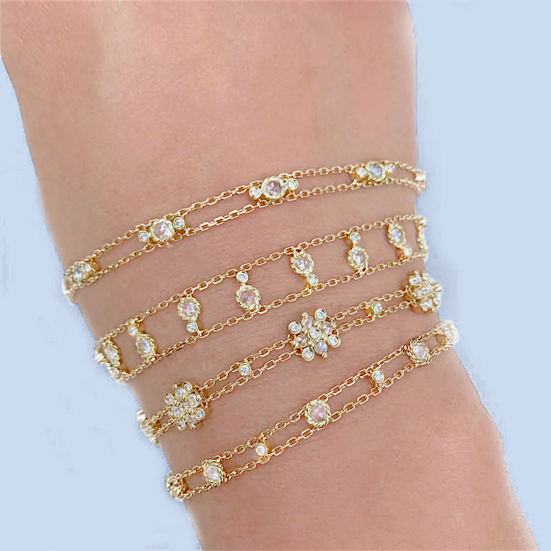 103-Adjustable-Signature-Twist-Bezeled-Rose-Cut-Diamond-Gold-Station-Bracelet-14k-18k-JeweLyrie_7308