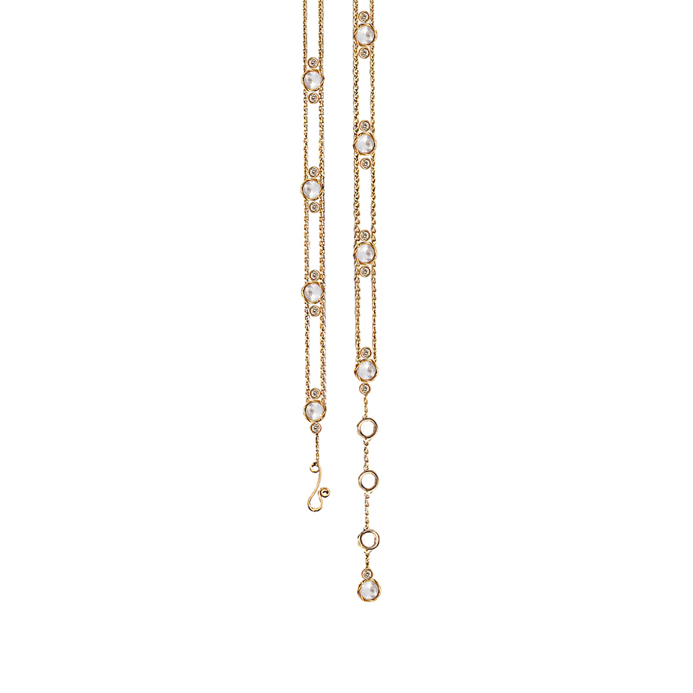 104-A-Adjustable-Flanked-Twist-Bezel-Rose-Cut-Diamond-Gold-Station-Bracelet-14k-18k-JeweLyrie