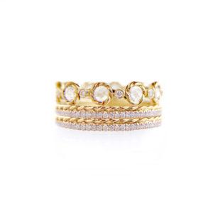 21.10.10.B-Rose-Cut-Diamond-Twist-Setting-Stripe-Gold-Crown-Ring-Stacking-14k-18k-JeweLyrie