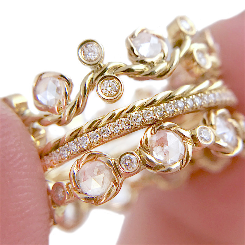 27.10.21-Rose-Cut-Diamond-Wavy-Twist-Vine-Eternity-Gold-Crown-Ring-Stacking-Set-14k-18k-JeweLyrie_3181