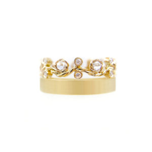27.53-8mm-Twist-Rose-Cut-Diamond-satin-square-band-crown-Ring-14k-18k-jewelyrie
