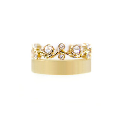 27.55-9mm-Twist-Rose-Cut-Diamond-satin-square-band-crown-Ring-14k-18k-jewelyrie