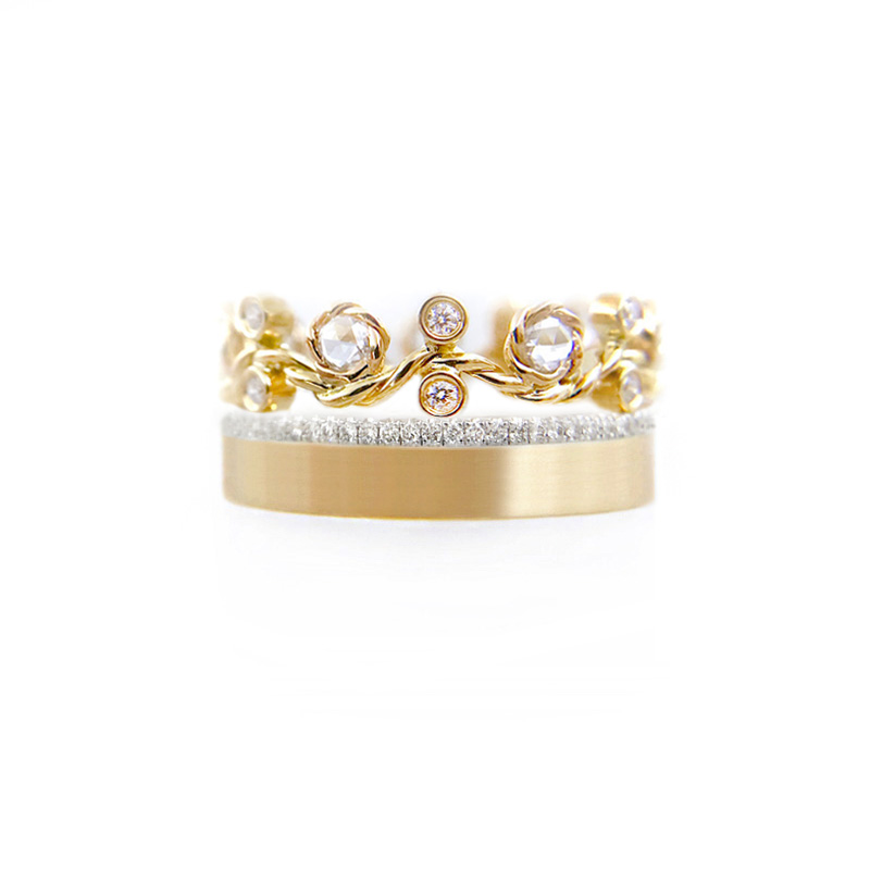 27.57.53-YG-9mm-rose-cut-diamond-twist-Pave-satin-square-band-Ring-stacking-14k-18k-jewelyrie_3510