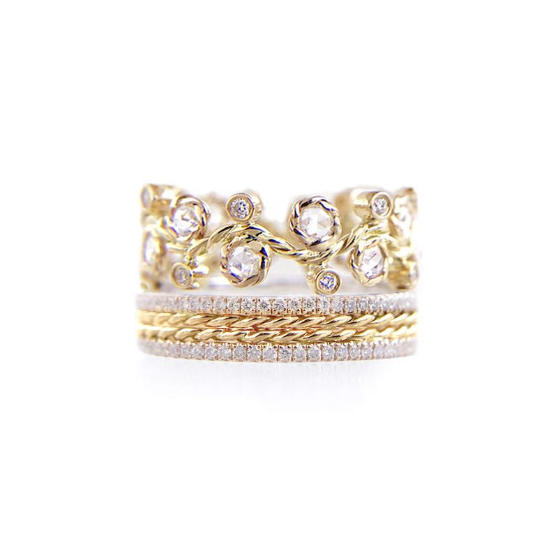 29.10.10-Alternate-Rose-Cut-Diamond-Twist-Pave-Stripe-Gold-Crown-Ring-14k-18k-JeweLyrie