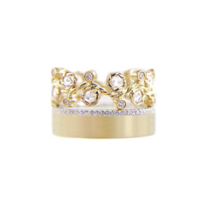 29.57.55-12mm-rose-cut-diamond-Alternate-Pave-satin-square-band-ring-Stacking-18k-JeweLyrie