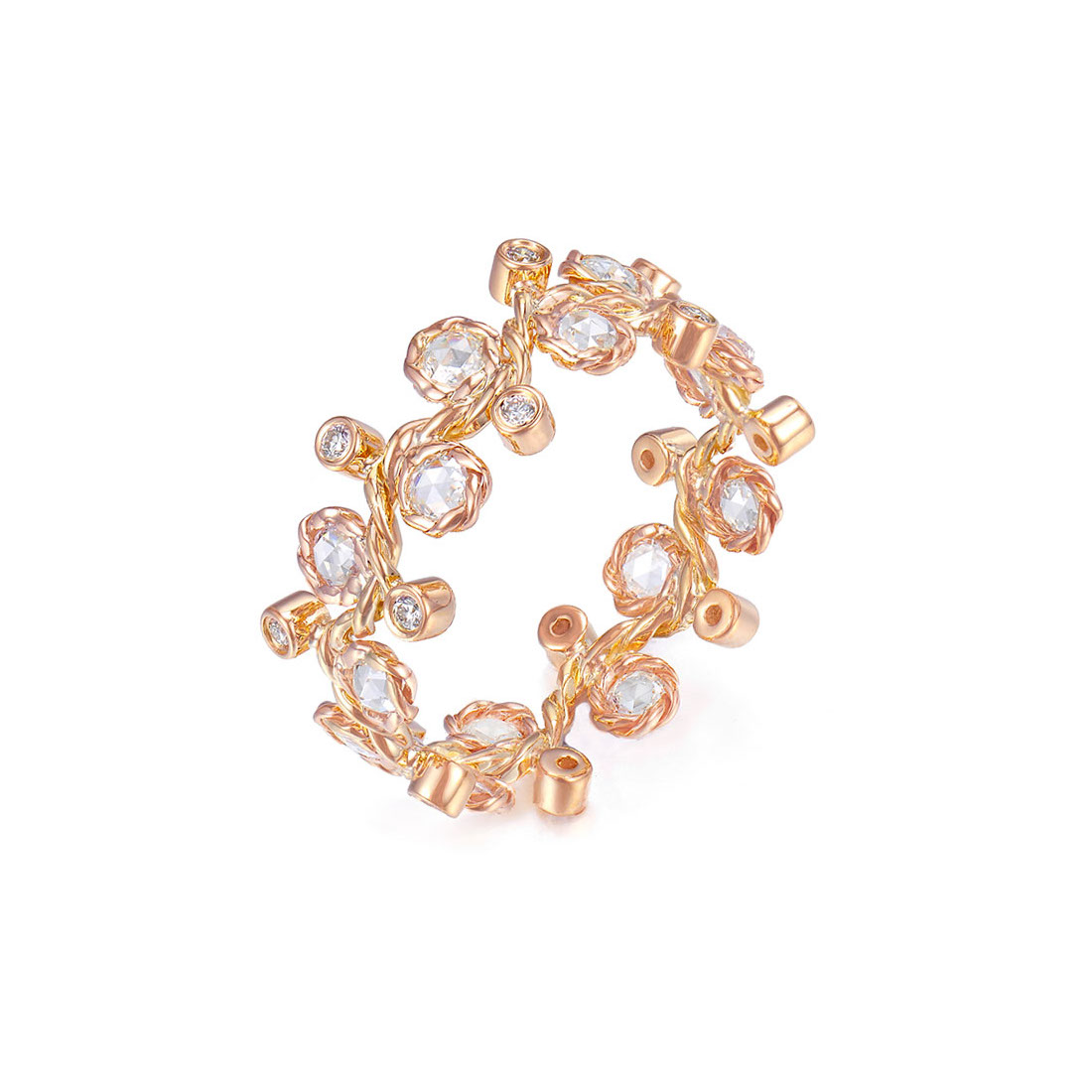 30-1200W-Wavy-Twist-Alternate-Rose-Cut-Diamond-Stacking-Eternity-Gold-Ring-14K-18K-JeweLyrie-