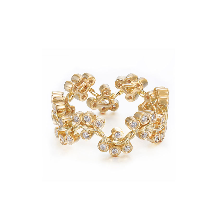 31-JeweLyrie-Signature-Wavy-Twist-Alternate-Diamond-Cluster-Gold-Ring-B