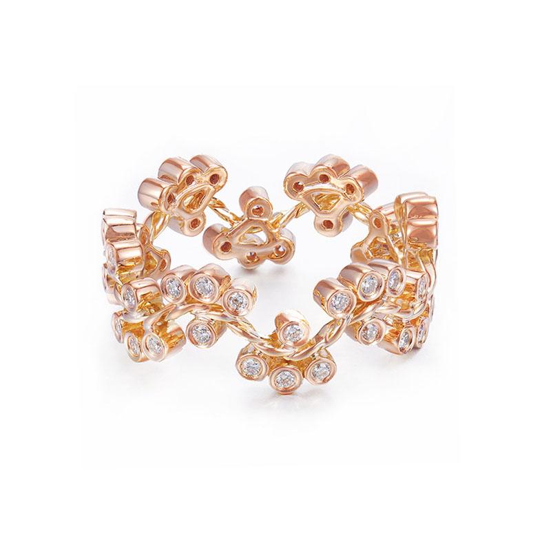 32-JeweLyrie-Signature-Wavy-Twist-Alternate-Diamond-Cluster-Gold-Ring-18k-14k copy