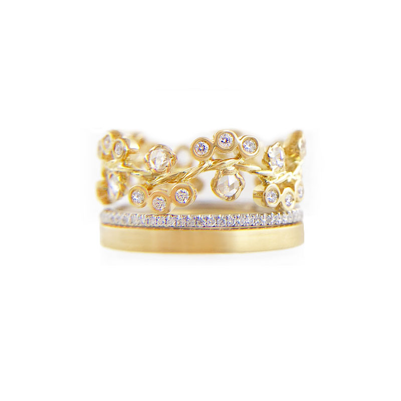 33.57.44-10mm-rose-cut-diamond-cluster-Pave-satin-square-band-ring-14k-18k-jewelyrie