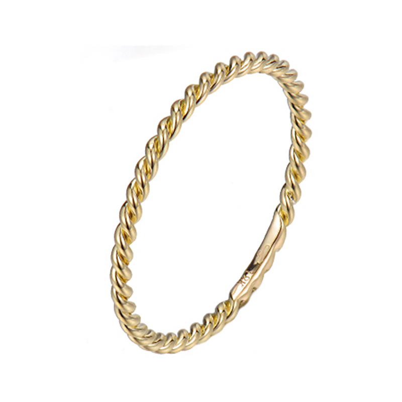 JeweLyrie Gold 1mm Classic Rope Twist Band Ring Guard Spacer, makes statement from subtle to dashing, available in 14k and 18k by JeweLyrie.