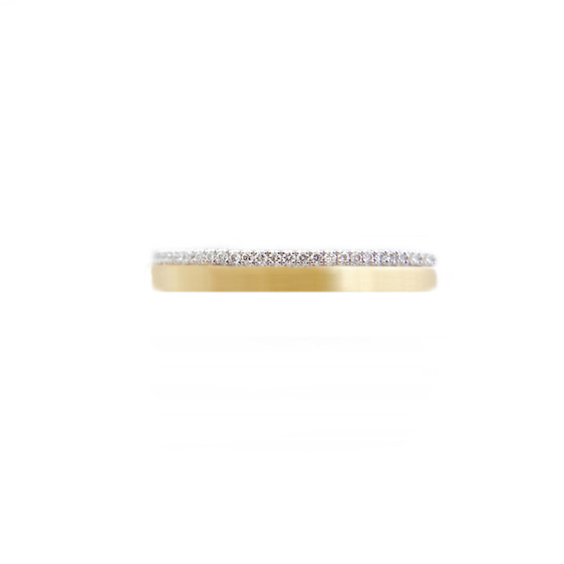 57.44-3mm-Slim-Pave-Diamond-Satin-Square-Band-Two-Ring-Stacking-18k-JeweLyrie-14k-18k_3510