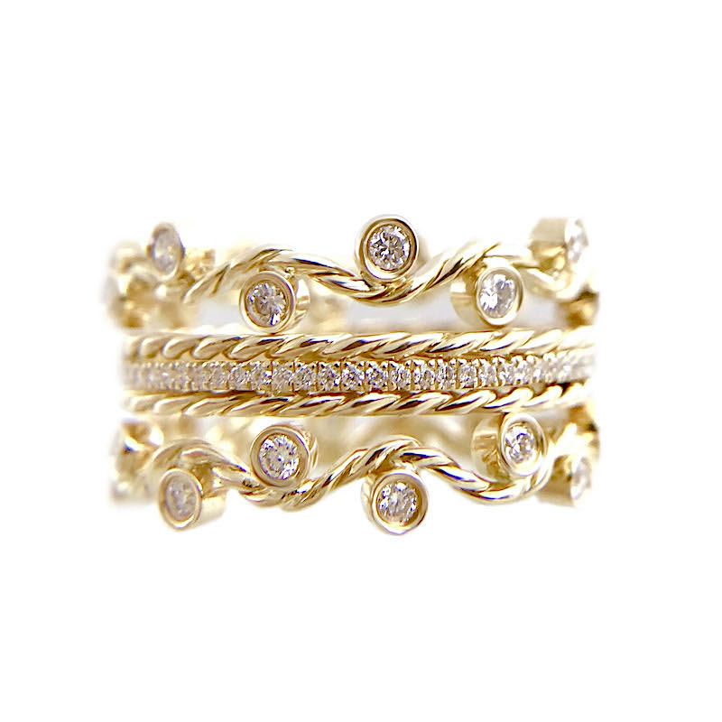 61 1-Twist-Vine-Rose-Cut-Diamond-Stacking-Eternity-Gold-Crown-Ring-5mm-14k-18k-JeweLyrie