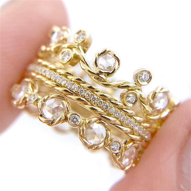 61 20 26-Twist-Vine-Rose-Cut-Diamond-Stacking-Eternity-Gold-Crown-Ring-5mm-14k-18k-JeweLyrie_3140