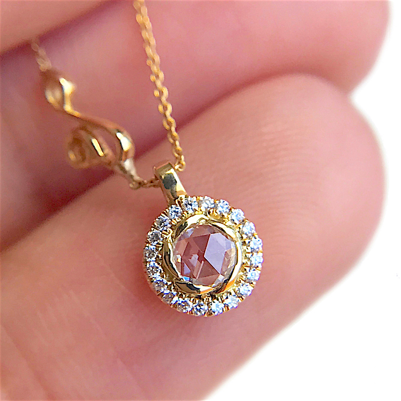 63-Signature-Twist-Bezel-Rose-Cut-Diamond-Drop-Gold-Pendant-Necklace_5497