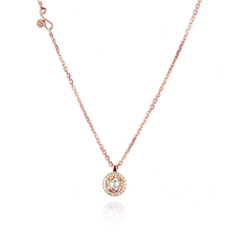 64-Signature-Twist-Bezel-Rose-Cut-Diamond-Drop-Gold-Pendant-Necklace-C