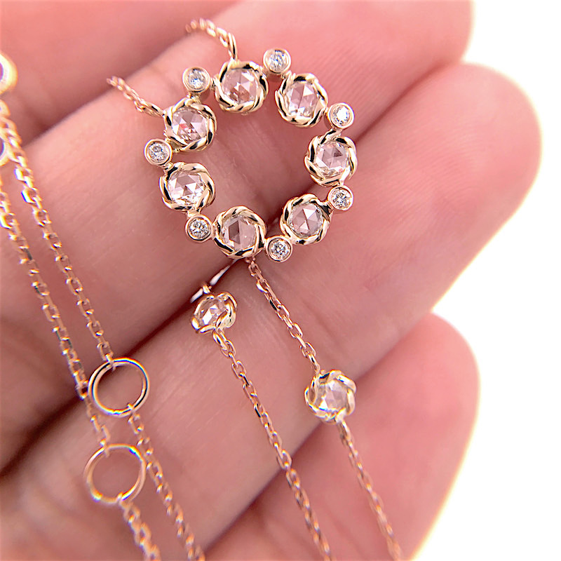 65-Signature-Twist-Bezel-Rose-Cut-Diamond-Eternity-Pendant-Necklace_6445B