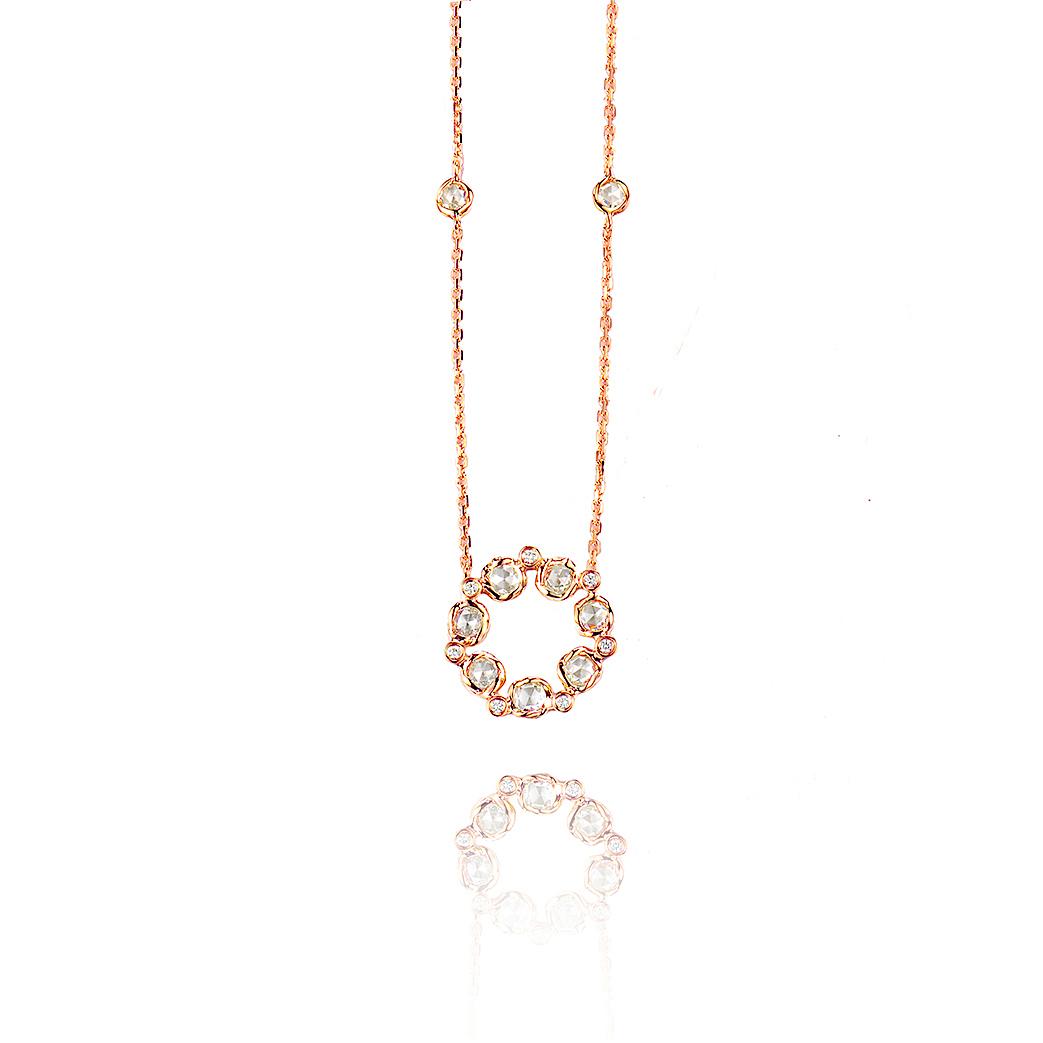 Signature Twist Bezel Rose Cut Diamond Eternity Pendant