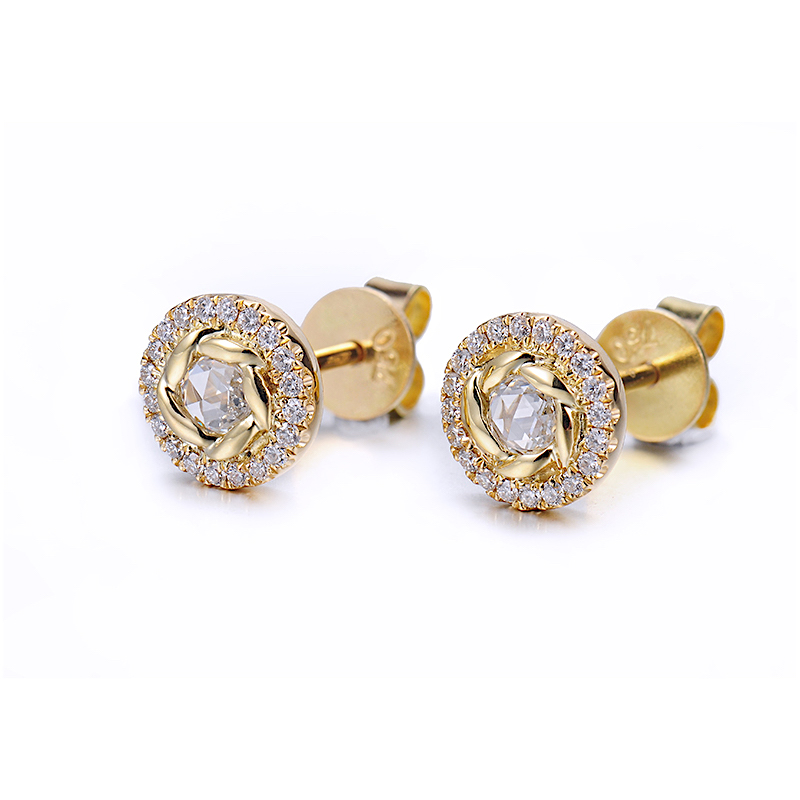 69-Signature-Twist-Bezel-Rose-Cut-Diamond-Halo-Stud-Gold-Earrings