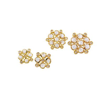 71-Signature-Twist-Bezel-Rose-Cut-Diamond-Bouquet-Stud-Gold-Earrings_3860