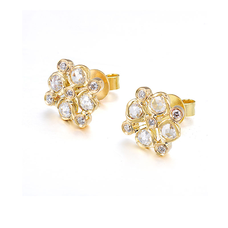 72-Signature-Twist-Bezel-Rose-Cut-Diamond-Checker-Stud-Gold-Earrings
