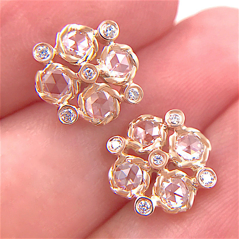 72-Signature-Twist-Bezel-Rose-Cut-Diamond-Checker-Stud-Gold-Earrings_7450A
