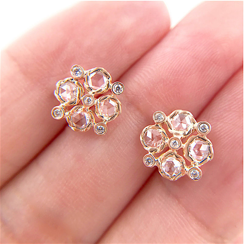 72-Signature-Twist-Bezel-Rose-Cut-Diamond-Checker-Stud-Gold-Earrings_7454