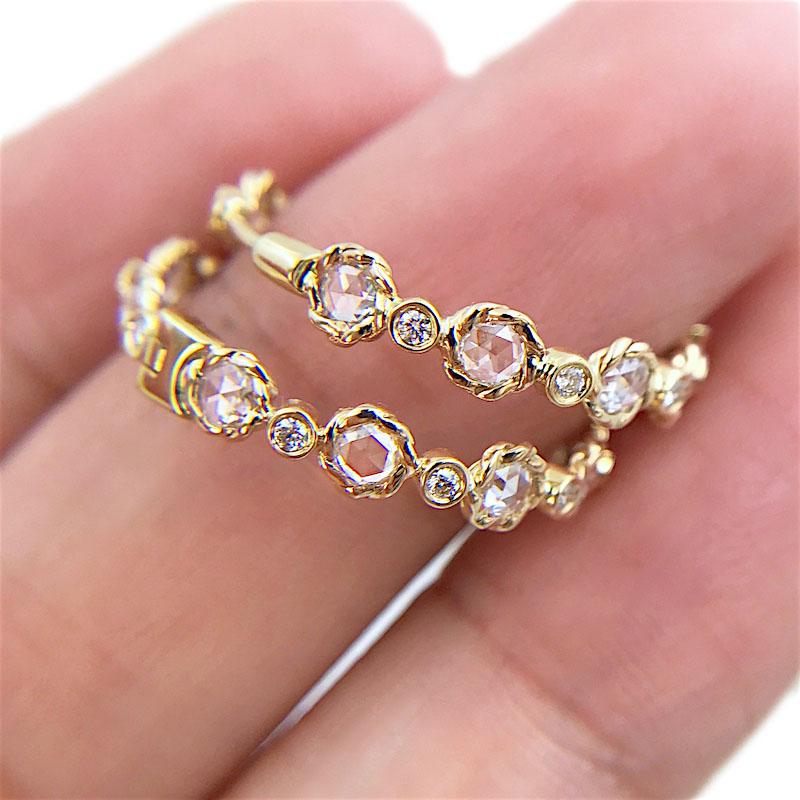 81-Signature-Twist-Bezel-Rose-Cut-Diamond-Eternity-Gold-Hoop-Earrings_3734-1