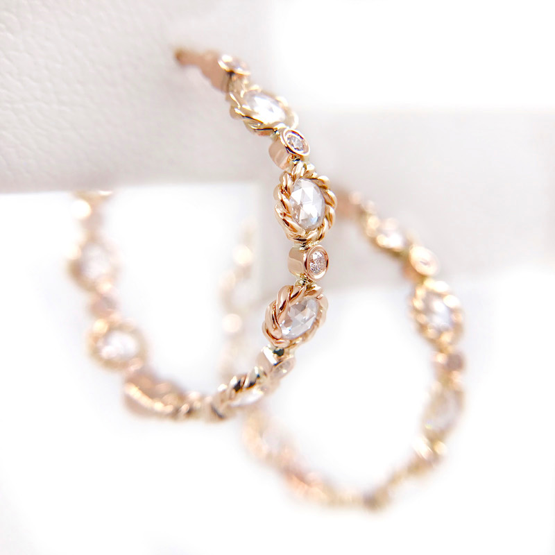 81-Signature-Twist-Bezel-Rose-Cut-Diamond-Eternity-Gold-Hoop-Earrings_7356