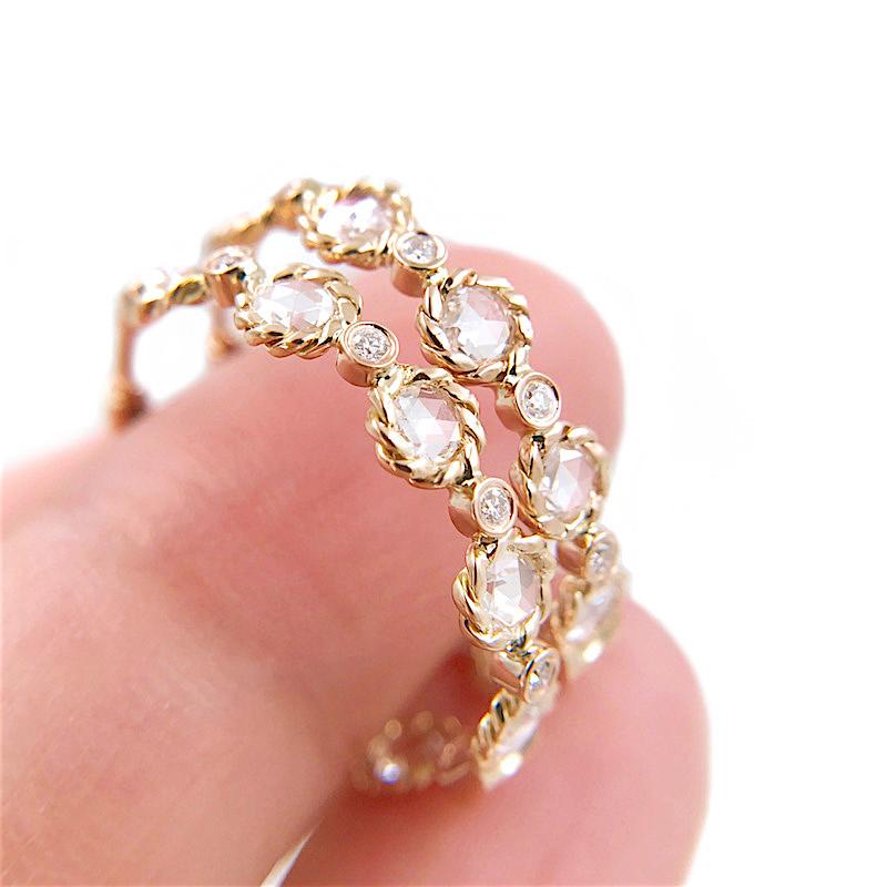 81-Signature-Twist-Bezel-Rose-Cut-Diamond-Eternity-Gold-Hoop-Earrings_7368