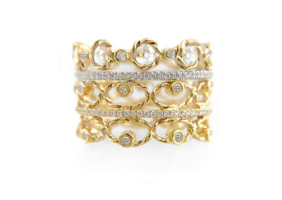 9.21.57-Diamond-Tip-Open-Lacy-Petal-Pattern-Rose-Cut-Eternity-Three-Ring-Stacking