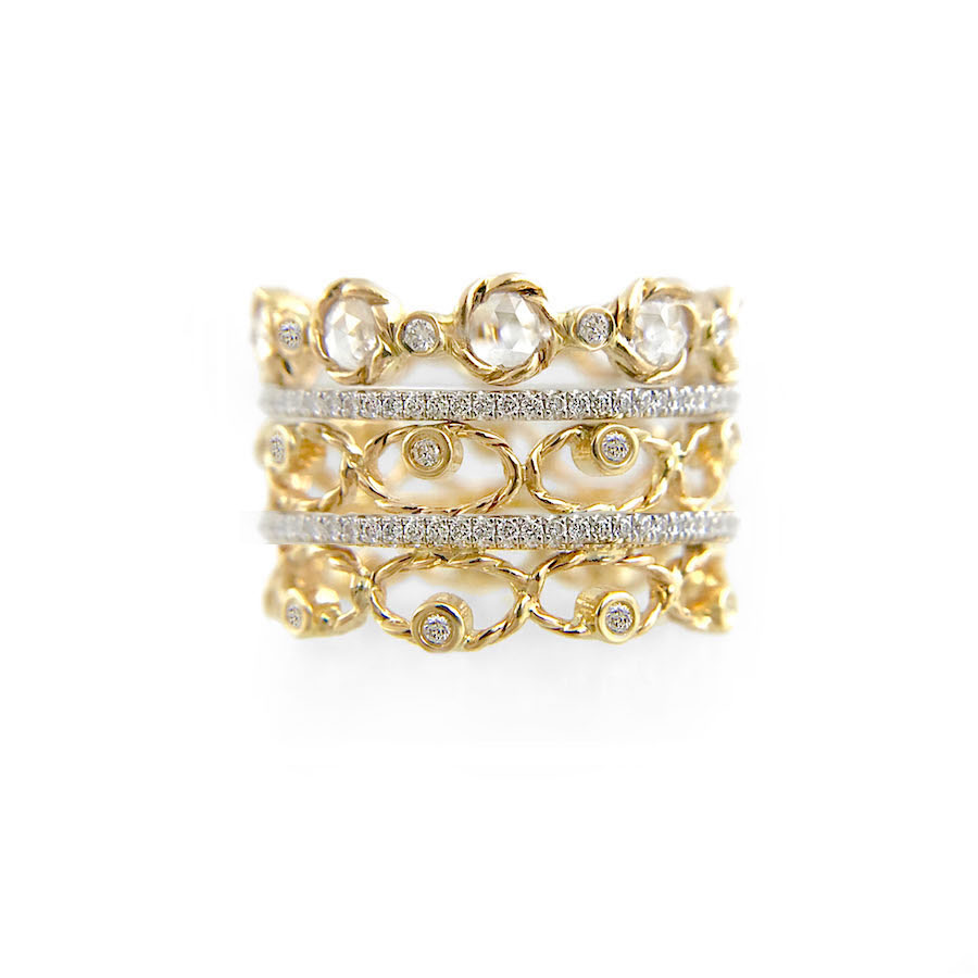 9.21.57-Diamond-Tip-Open-Lacy-Petal-Pattern-Rose-Cut-Eternity-Three-Ring-Stacking copy