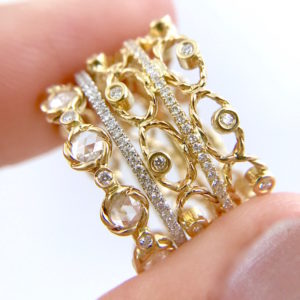 9.21.57-Diamond-Tip-Open-Lacy-Petal-Pattern-Rose-Cut-Eternity-Three-Ring-Stacking_3118