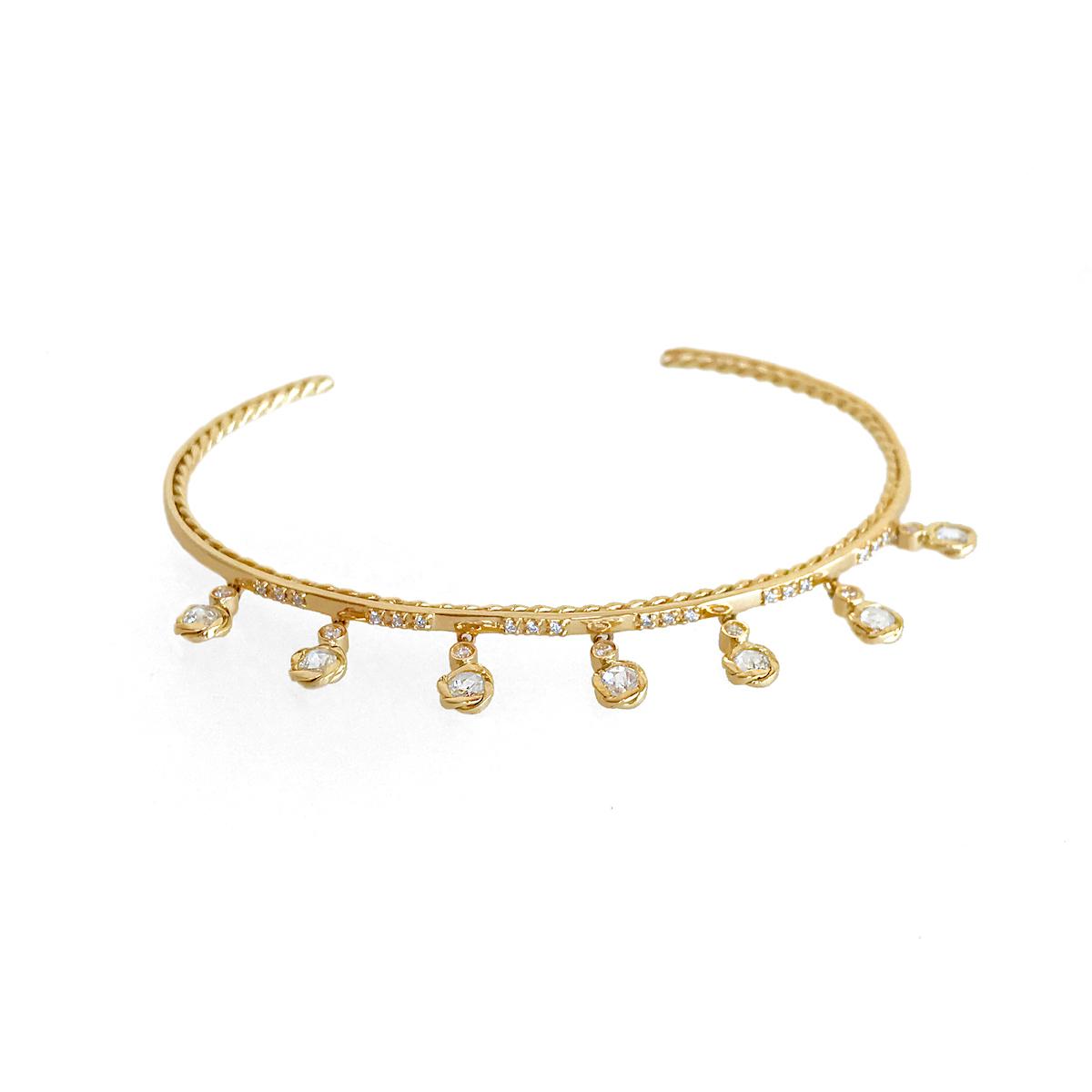 98-twist-lined-rose-cut-diamond-6-station-dangle-tassel-stackable-open-gold-cuff_4528