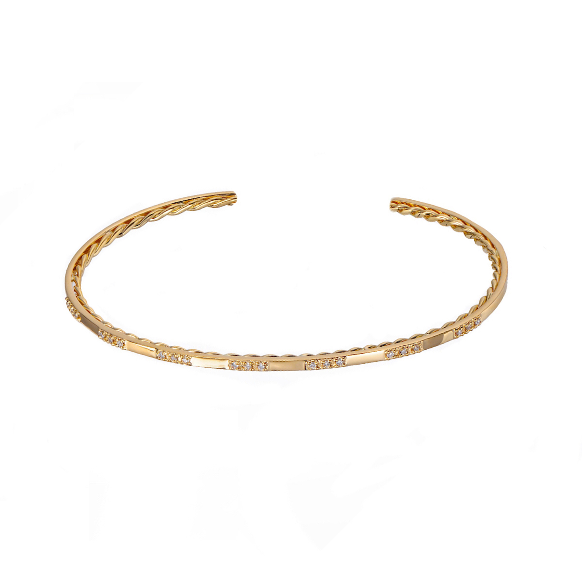 99-1:8-Slim-Twist-Lined-Pavé-Diamond-Trio-Patterned-Open-Gold-Cuff-C_ALGCF-02