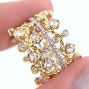 BM3-29-27-57-Wavy-Twist-Alternate-Rose-Cut-Diamond-Stacking-Eternity-Gold-Ring-14K-18K-JeweLyrie_3336