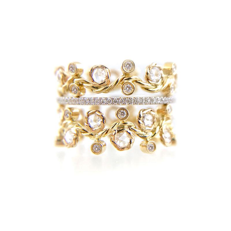 BM3-29-27-57-Wavy-Twist-Alternate-Rose-Cut-Diamond-Stacking-Eternity-Gold-Ring-14K-18K-JeweLyrie_3341