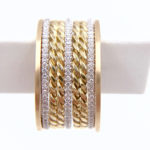 JeweLyrie Gold 2mm Classic Rope Twist Band Ring Guard Spacer, makes statement from subtle to dashing, available in 14k and 18k by JeweLyrie.