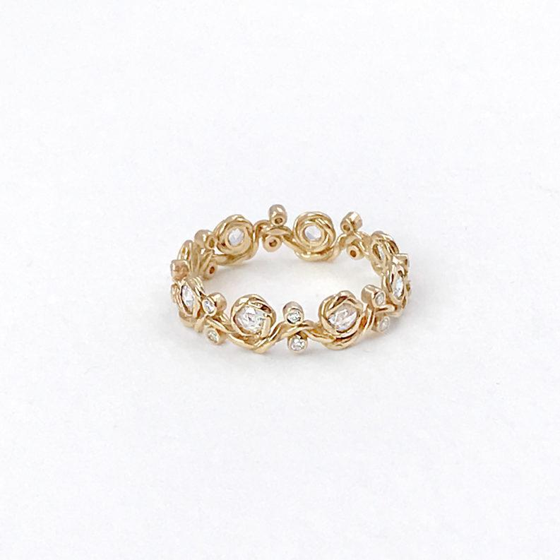 twist-vine-rose-cut-diamond-eternity-stackable-gold-crown-ring-5mm-18k-jewelyrie